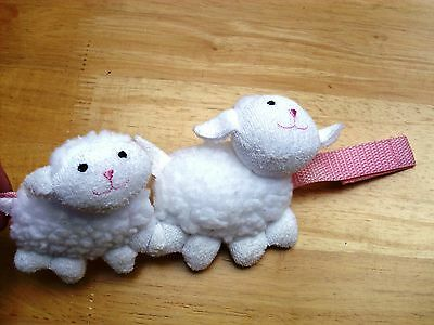 BABY ANNABELL ZAPF CREATION lamb rattle pushchair toy excellent con