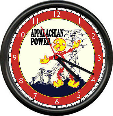 Reddy Kilowatt Appalachian Power West Virginia Electric Lineman Sign Wall Clock