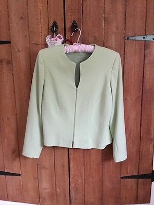 Ladies Lime Green Jacket Size 12