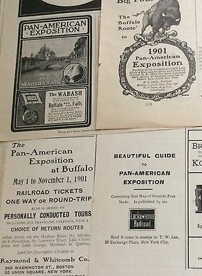 1900-1901 Pan-American expo railroad  ad lot