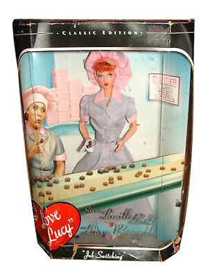 """I Love Lucy """"Job Switching"""" 2008 Barbie Doll"""