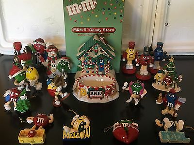 M&M's * #21 Lot of 16 Various M&M's Christmas Ornaments and Figurines M&Ms