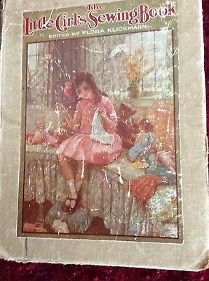 Antique The little girls sewing book1910s rare
