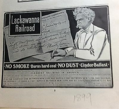 1899 Lackawanna railroad ad Mark Twain'