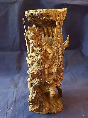 Wooden Eastern carving of gods