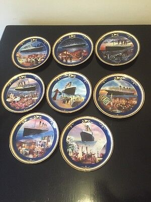 Titanic Queen Of The Ocean Collection Set Of 8 Plates