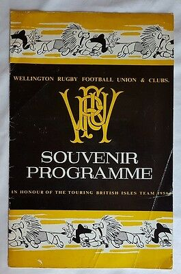 1959 British & Irish Lions visit to Wellington Rugby Club programme