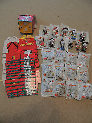 Mcdonalds Happy Meal Toys Snoopy Peanuts Around The World 1999 & Boxes