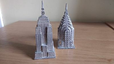 Silver Plated Art Deco Style Salt & Pepper Set