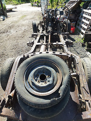 Rover p4 75 rolling chassis with engine and gearbox hot rod rat rod special etc