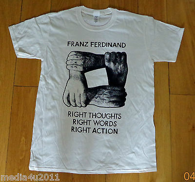 Franz Ferdinand Right Thoughts Right Words Right Action T Shirt X Large New