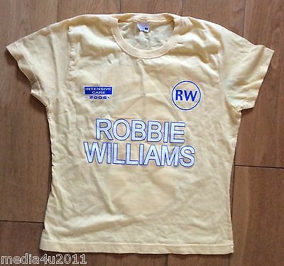 Robbie Williams Intensive Care 2006 Concert Tour Skinny Yellow T Shirt S New