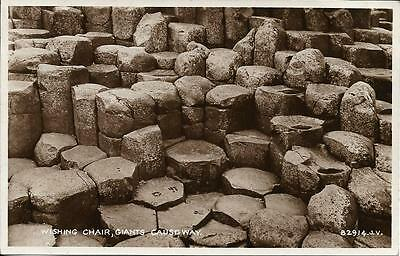 Old Postcard  Wishing Chair Giants Causeway Antrim N Ireland