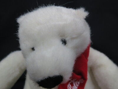 European Community 2007 Coca-Cola Company Recycled Polar Bear  Plush Stuffed