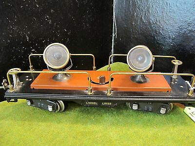 Lionel standard gauge 520 searchlight car complete, original clean ~WORKING~