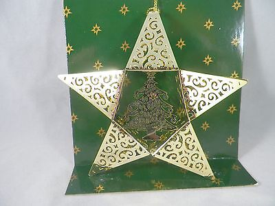 Gold Star with Tree Christmas Tree Ornament new holiday