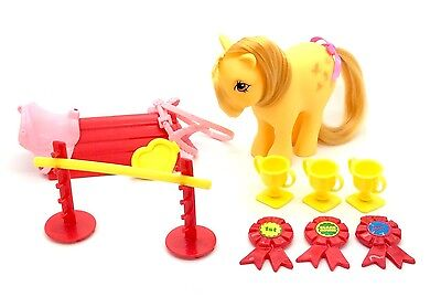 ⭐️ My Little Pony ⭐️ G1 UK Gymkhana Set Playset Nr Complete with Butterscotch!