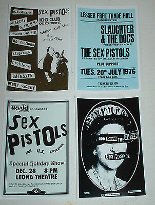 Sex Pistols Vintage Punk Rock Concert Posters Job Lot Set 10  6 X 4 Glossy Card