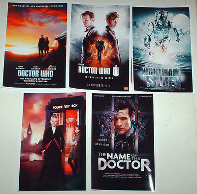 Dr Who Modern Tv Film Posters Job Lot Set 10 Colour 6 X 4 Glossy Cards
