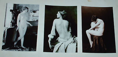 VINTAGE 1900s PHOTOGRAPHIC NUDE MODELS HOT JOB LOT SET 10 B/W 6 X 4 PHOTOS