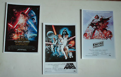 Star Wars Movie Posters Job Lot Set 10 Colour 6 X 4 Glossy Cards Set Films