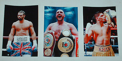British Boxing Boxers 6 X 4 Job Lot 10 Photographs Reprints Anthony Joshua Etc