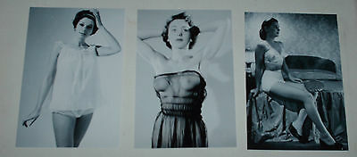 Vintage Underwear Glamour Catalogue Models Hot Job Lot Set 10 B/w 6 X 4 Photos