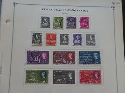 Kenya / KUT 1960 - 1983 Mint / Used Collection on Leaves 15 Scans $98+
