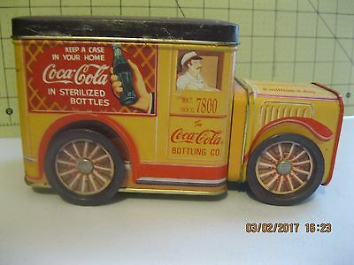 Coca- Cola  Tin  Truck---  1995----Wheels Turn-- Market Doug 7800-- Antique-