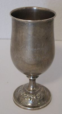 #268 TOWLE OLD MASTER STERLING SILVER WATER GOBLET 134 GRAMS USE or SCRAP