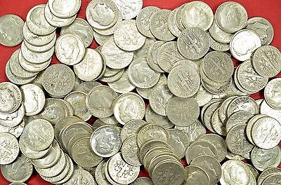 Roosevelt Dimes US 90% Silver Coin Lot of 20 Circulated Coins lot 96