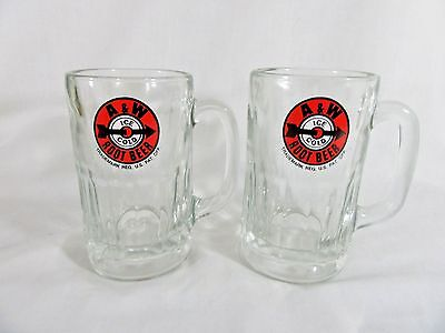 Lot of 2 Vintage A&W Root Beer Clear Glass Mugs  - 14 oz