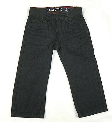 2T Boy's Jeans Nautica Slim Straight Denim Pants Toddler Admiral Blue