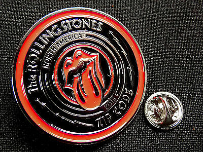 Rolling Stones - Official Tour Pin - 2015 Zip Code Tour North America - Mint