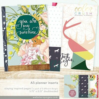 Webster's Pages Color Crush A5 Planner Staying Inspired Inserts P1013