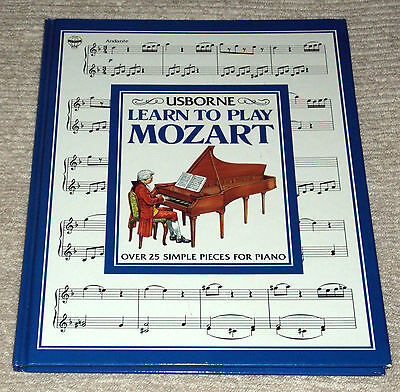 Usborne Learn To Play Mozart Piano Book (Hard Cover) Michael Durnin 1993