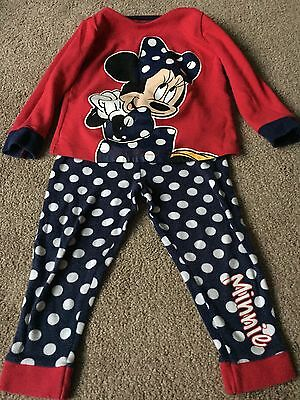 Girls Minnie Mouse Pyjamas Size 2-3 Years From Mothercare