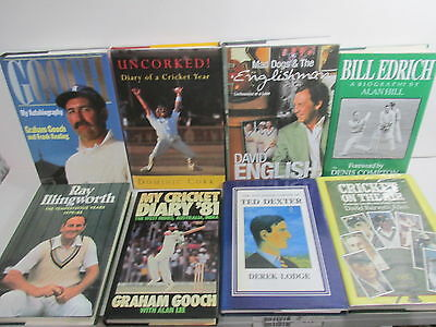 Cricket themed book collection x 25 titles, job lot, sport