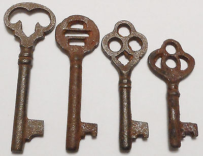 Antique Vintage Skeleton Keys REPRODUCTION SteamPunk Jewelry {Lot of 4} Art ><>