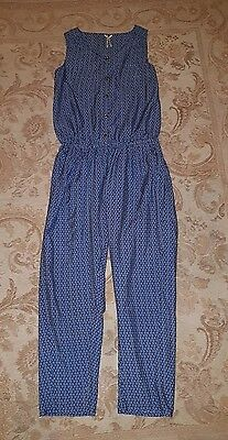 Girls ditsy floral next jumpsuit trousers 12 years Navy