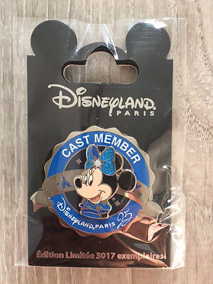 Pin Disneyland Paris CAST MEMBER EXCLUSIVE MINNIE 25EME ANNIVERSAIRE EL 3017 ex