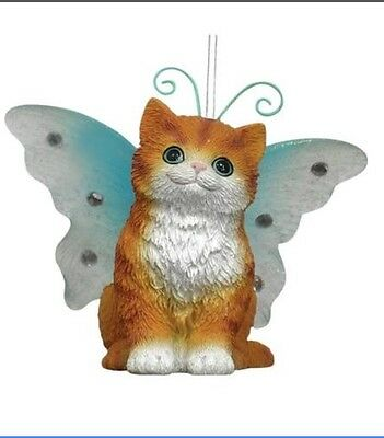 Westland Giftware Wings By Keith Kimberlin Red Scottish Fold Kitten Ornament