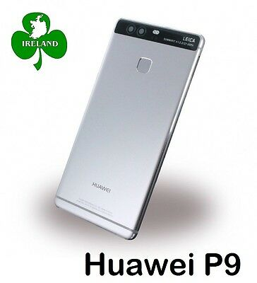 Huawei P9 Housing Chassis Back/Battery Cover Grey Camera Lens Replacement New