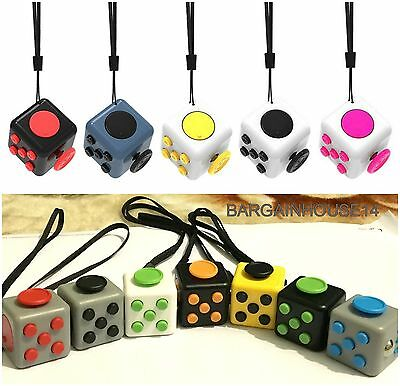 5 x Mini Fidget Cube  Children Toy Adult Fun Stress Relief Cubes ADHD