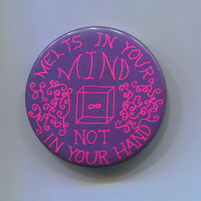 1960's  LSD ACID  Melts in Your Mind   Pot Grass Hippie Protest Cause Peace  Pin