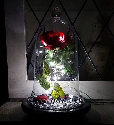Beauty and the Beast Rose Bell Jar Light Disney Inspired