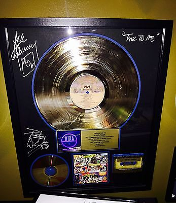 Kiss RIAA award Unmasked Presented To Eric Carr AUCOIN Signed By Ace  And Peter