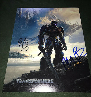 Mark Wahlberg signed Transformers the Last Knight signed poster 11x14 photo cast