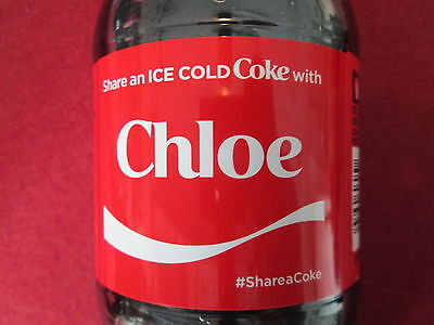 Brand New 2017 Share a Coke with CHLOE-20 oz Collectible Coca-Cola Bottle-HTF