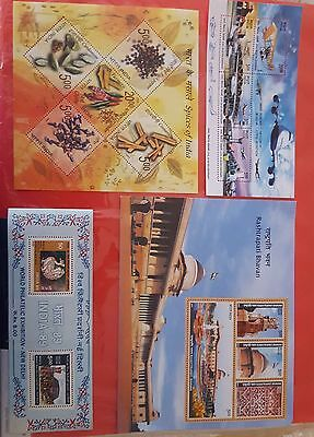 Indian mint souvenier sheets 4 number issued in 1987,2009,2012 & 2011,
